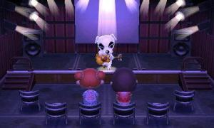 Relaxing in Animal Crossing: New Leaf.