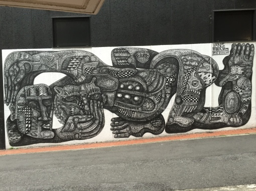 Beautiful black and white graffiti from Japan.